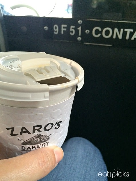 zaros coffee in cab