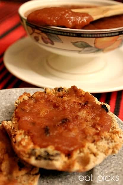 Apple Butter on english muffin
