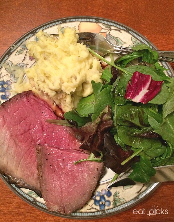 Coffee Roast beef dinner plate