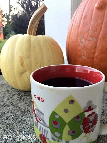 coffee with fall pumpkins
