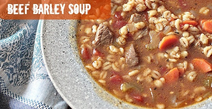 Easy Beef Barley Soup