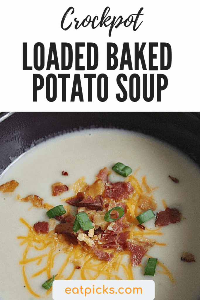 Crockpot Loaded Baked Potato Soup is a perfect recipe for easy #mealplanning #soup #crockpot #instantpot