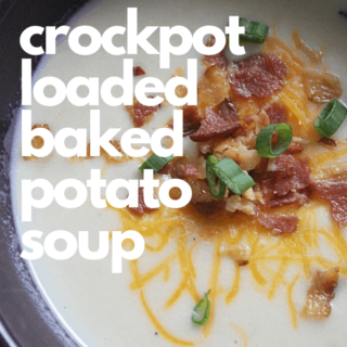 Crockpot Loaded Baked Potato Soup is easy in Crockpot or Instant Pot and makes a great meal for cold day. #comfortfood #soup #crockpotrecipes