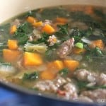 sausage & Kale Soup in pot