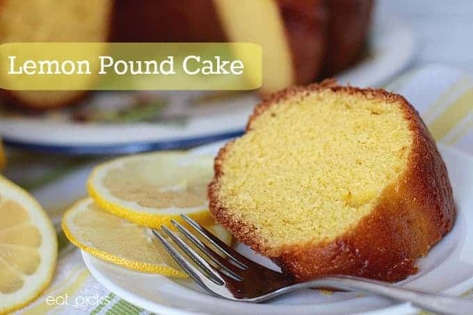 Lemon pound cake starts with boxed cake and pudding mix to create a luscious, light treat to enjoy for dessert.
