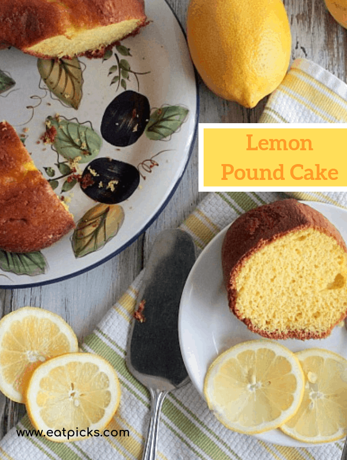 Lemon Pound Cake in Bundt Pan is a desert perfect for Lemon lovers everywhere! #Lemons #lemonbundtcake