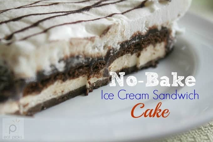 No-Bake Ice Cream Sandwich Cake recipe is easy dessert to make for cookout or potluck dinner.