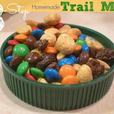 Save money by making this easy 3-step homemade trail mix. Customize with your favorite nuts, chocolate candies and dried fruit.