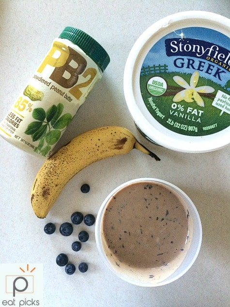 PB&J Protein Smoothie is a super quick way to get in a recovery meal after a workout. This smoothie is packed with nutrients and makes a great breakfast too!
