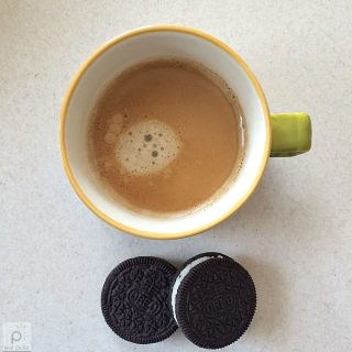 Coffee and Oreos are the comfort food snack to have after a long week.
