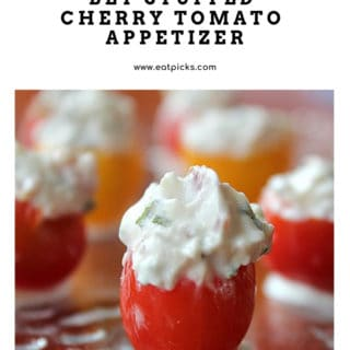 BLT stuffed cherry tomato appetizer