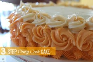Orange Crush Cake is a beautiful way to enjoy an easy recipe! just cake mix and soda and a bit of colored frosting makes this cake special for a birthday or any occasion