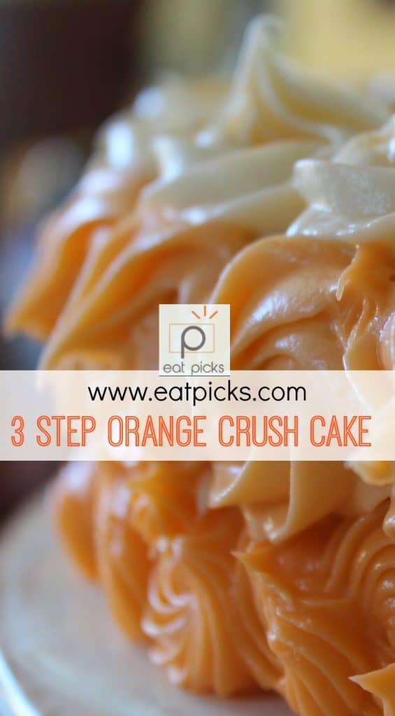 Orange Crush Cake is a deliciously easy recipe with orange crush soda, box cake mix and a bit of food coloring. A few twists of frosting and you have a special dessert for any occasion.