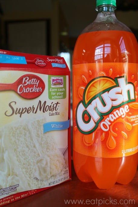 Orange Crush soda and boxed cake mix come together to make a delicious cake perfect for that special birthday!