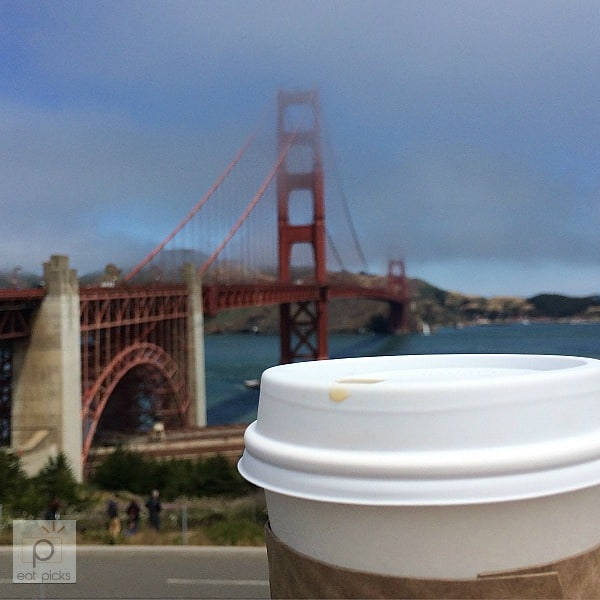 Coffee at the Golden Gate Bridge is pretty tasty.