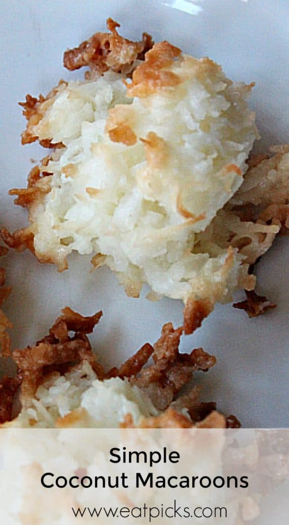 coconut macaroon cookies have a soft chewy center surrounded by crisp toasted coconut.