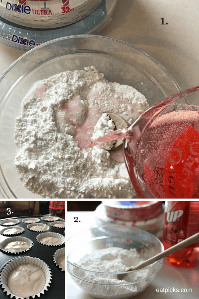 Holiday Soda Cupcakes with 7UP Tutorial Step by Step