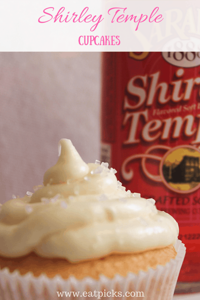 Shirley Temple Soda Cupcakes are easy as 1-2!