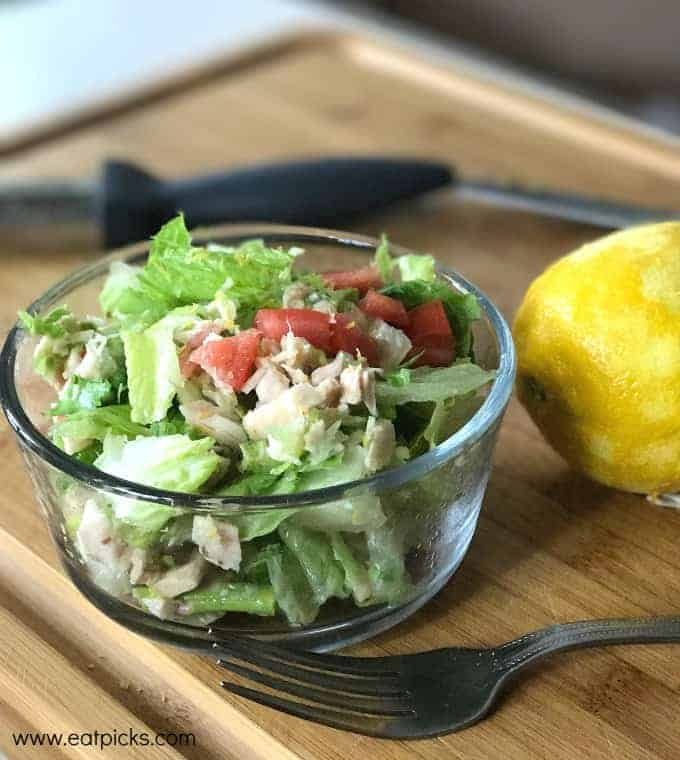 Tuna Salad to go is a quick recipe using fresh simple ingredients that will compliment any meal plan