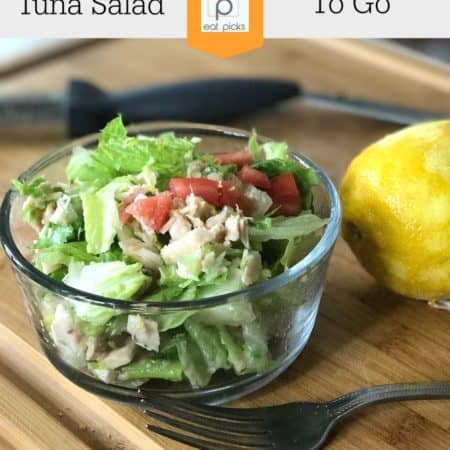 Tuna Salad to go is perfect quick meal to have for your meal plan