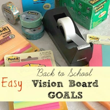 Back to School Vision Board Goals with Scotch™ Brand Tape