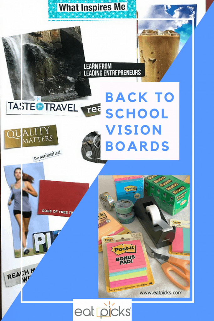 Back to School Vision Board Goals are easy to make when using Scotch™ Brand