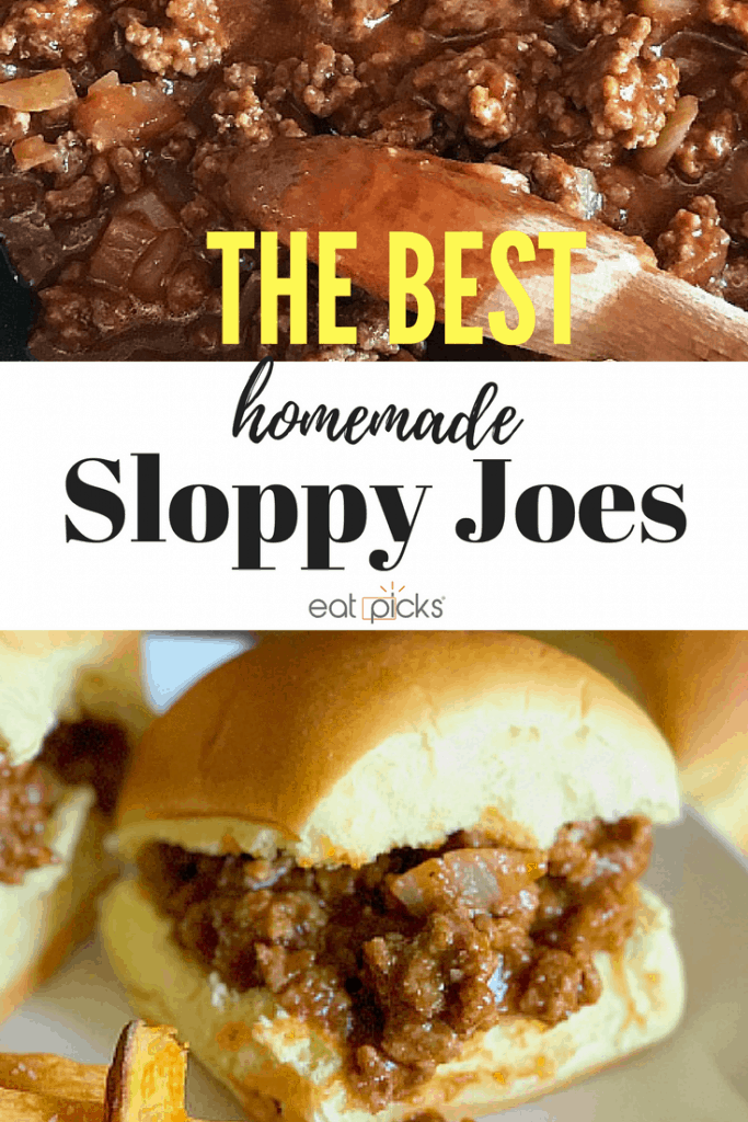 The Best Homemade Sloppy Joe recipe is ready in under 30 minutes and makes a great back to school dinner!