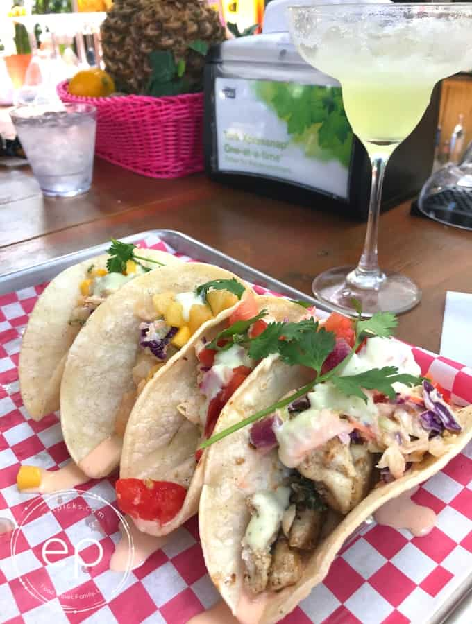 Fish Tacos with Margarita