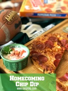 Homecoming Tonys Pizza and Chip Dip
