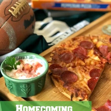 Homecoming Tonys Pizza and Chip Dip