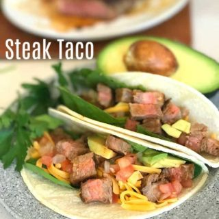 Steak Taco is made delicious with Moyer Beef Angus Strip Steak.