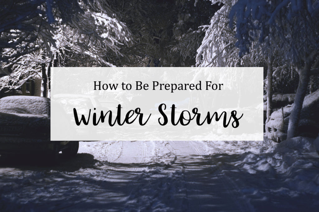 How to Prepare for Winter Storm