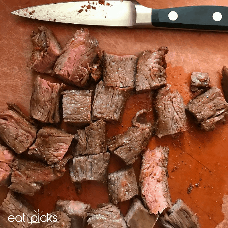 Cut Steak on Board