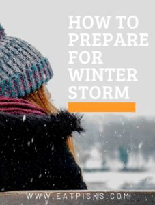 How to Prepare for Winter Storm Girl in Hat looking at snow