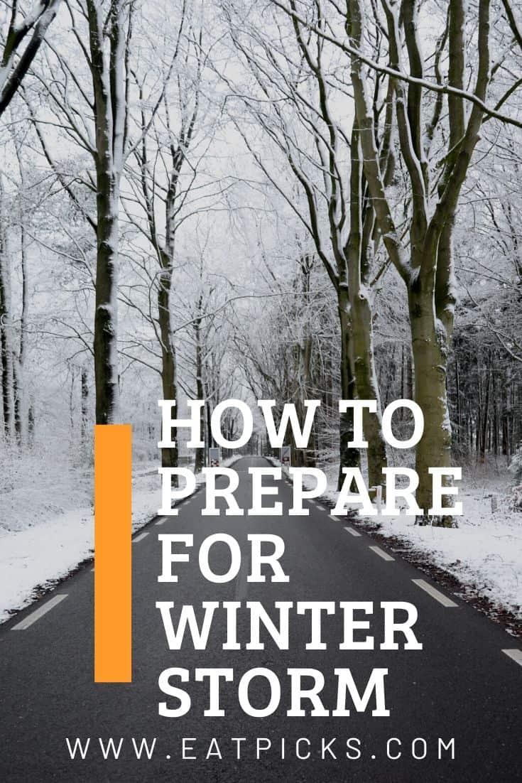 Winter Storm Prepare road