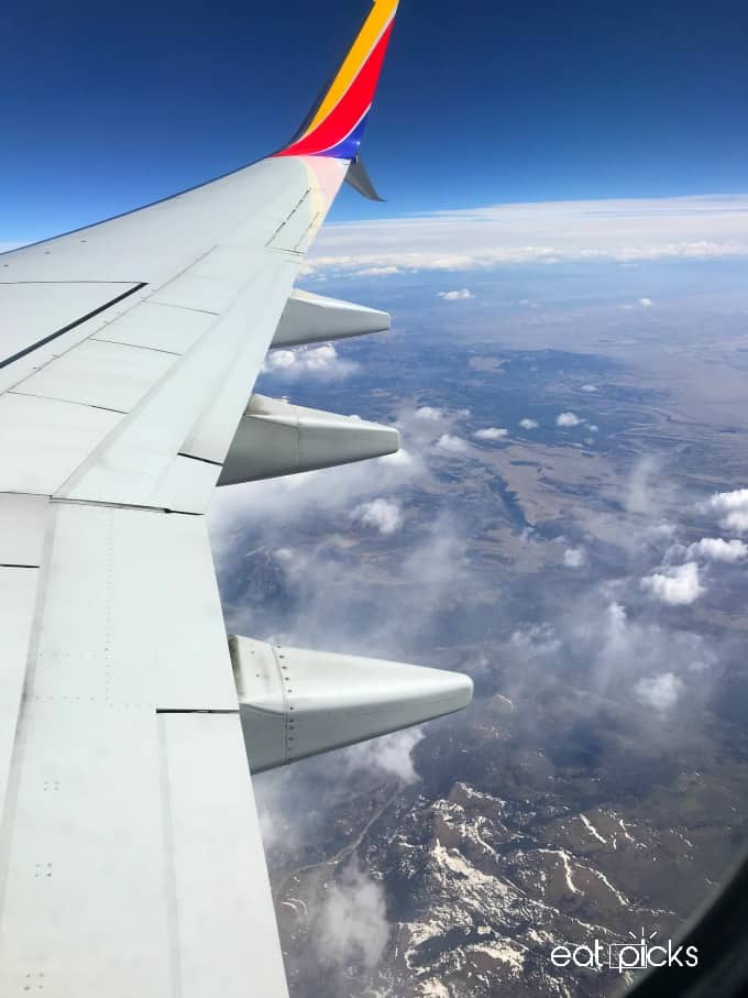 Flight over Rocky Mountains