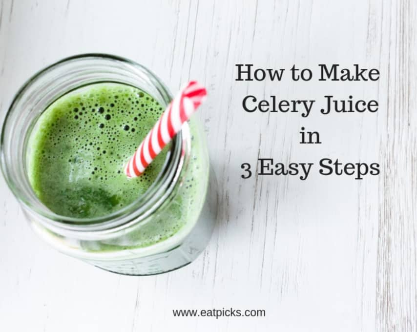 How to make celery juice in 3 easy steps