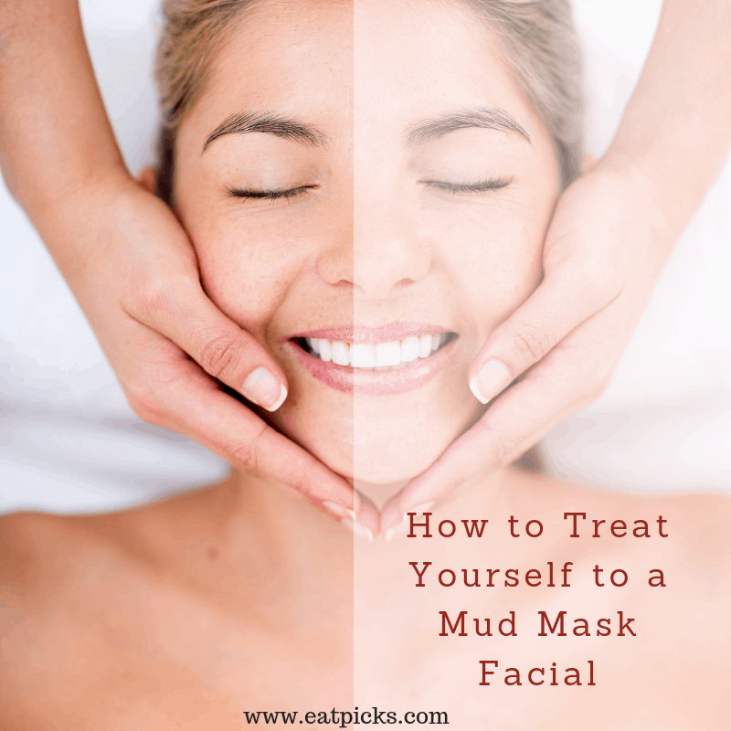 Mud Mask Facial is perfect for home spa treat. #spa #mudmask