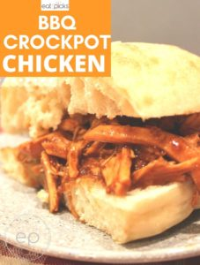 BBQ Crockpot Chicken sandwich