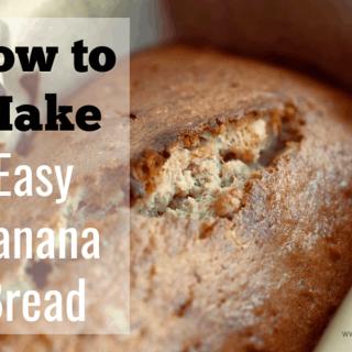 How to Make Easy Banana Bread