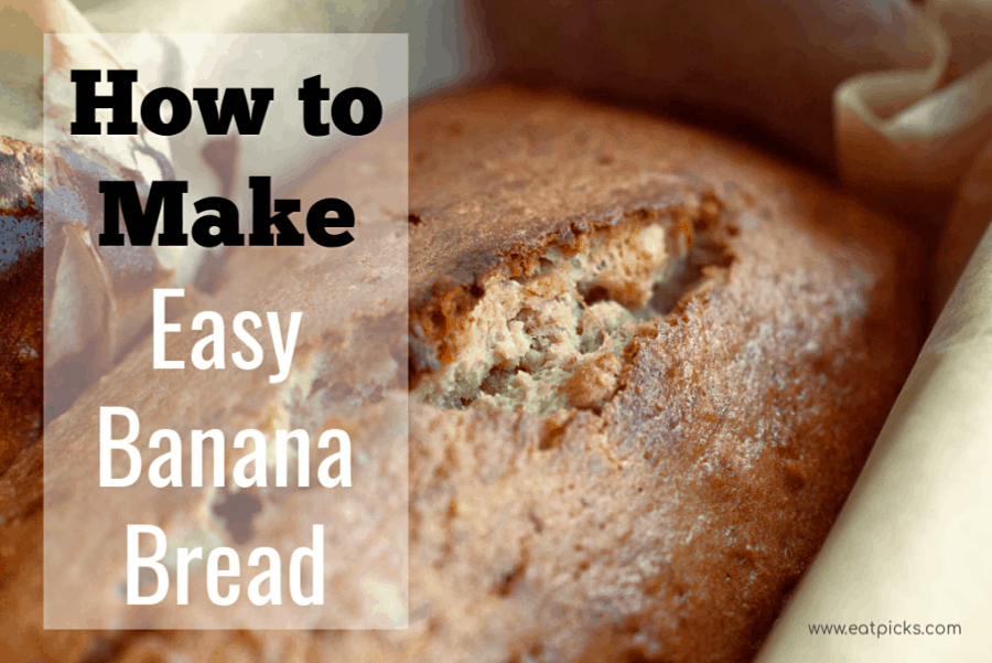 How to make easy banana bread. great recipe for quick bread that is full of flavor and can be enjoyed for breakfast or snack. #easyrecipe #bananabread #baking