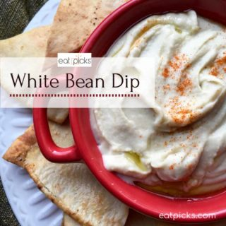 Easy White Bean Dip great for holiday parties or any gathering! Simple and full of flavor appetizer. #partyfood #Appetizer #easyrecipe