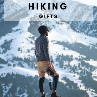 Winter Hiking Gifts for enjoying the outdoors year round. Our favorite gear for winter hiking enthusiast! #hiking #outdoors #winter #giftguide