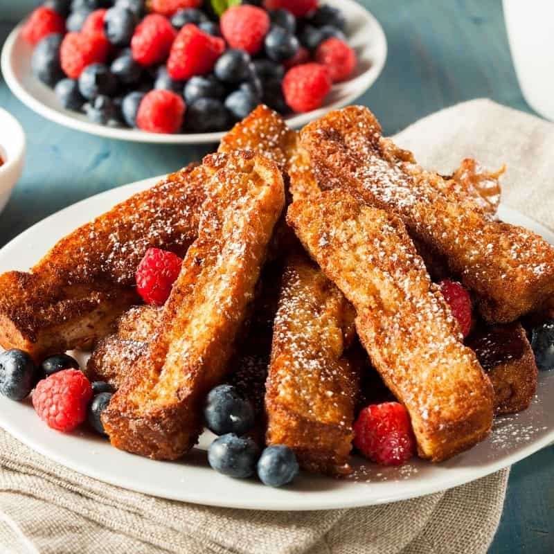 French Toast Sticks with berries