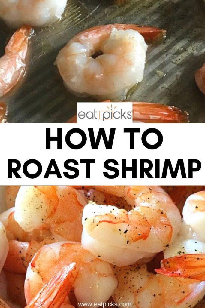 Roasted shrimp on sheet pan
