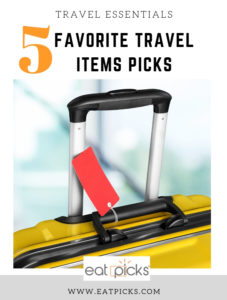 5 FAvorite Travel items picks Suitcase