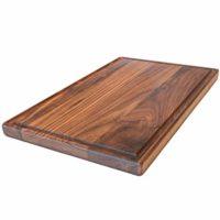 Large Walnut Wood Cutting Board by Virginia Boys Kitchens - 17x11