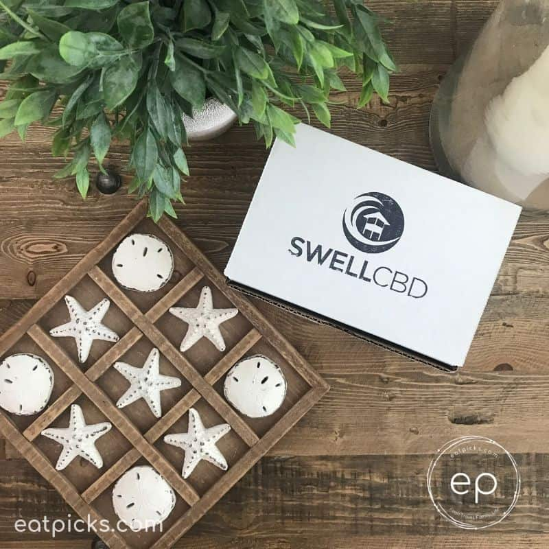SwellCBD Product box on table