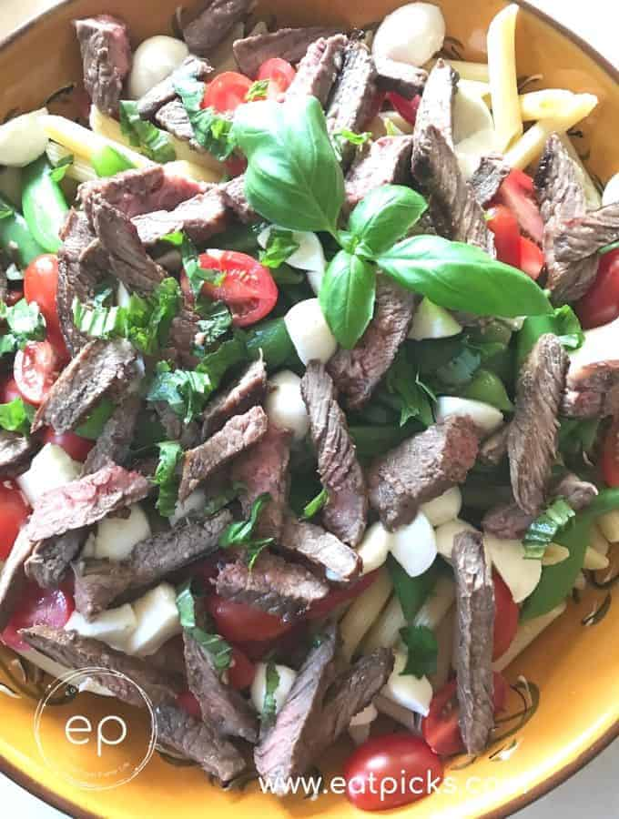 The Best Sirloin Steak & Pasta Salad Recipe