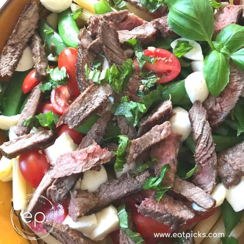 The Best Sirloin steak and pasta salad for party or dinner!